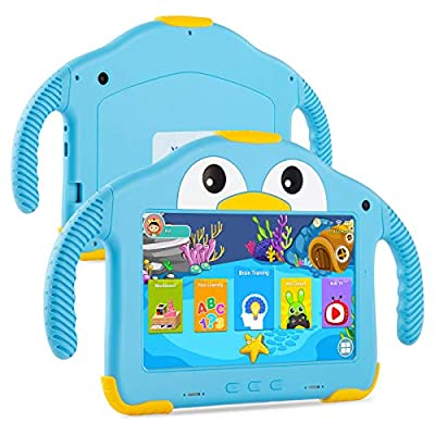 Tablet for Toddlers Tablet Android Kids Tablet with WiFi Dual Camera 1GB 32GB Storage 1024 x 600 Touch Screen Parental Control Mode Google Playstore YouTube Netflix for Boys Girls Android 10