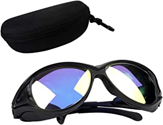 10.6um OD+7 CO2 Laser Protective Goggles Safety Glasses Protection Glasses Goggles Double-Layer Professional Laser Engraving Marking Cutting Welding Machine Laser Light Safety Glasses Eye Protection