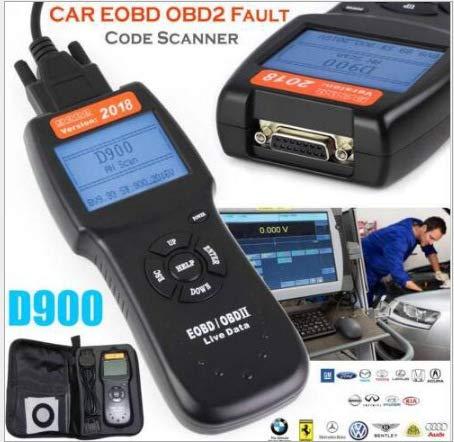 D900 OBD2 CANBUS-Leser Autodetektor Autocodeleser OBD2-Kabel CAN/KWP 2000 / ISO 9141-2 / J1850 VPW / J1850 PWM