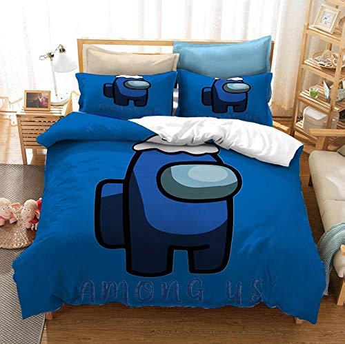 Entre los juegos casuales de EE. UU, Juego de cama con funda nórdica en 3D,cama con funda de edredón suave y cómoda para niños y adolescentes niños y niñas textiles para el hogar-B_220x240cm (3pcs)