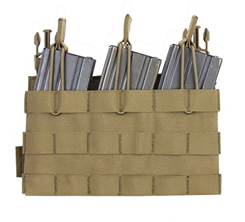 Warrior Recon Plate Carrier Triple Open Mag Pouch Coyote, Coyote