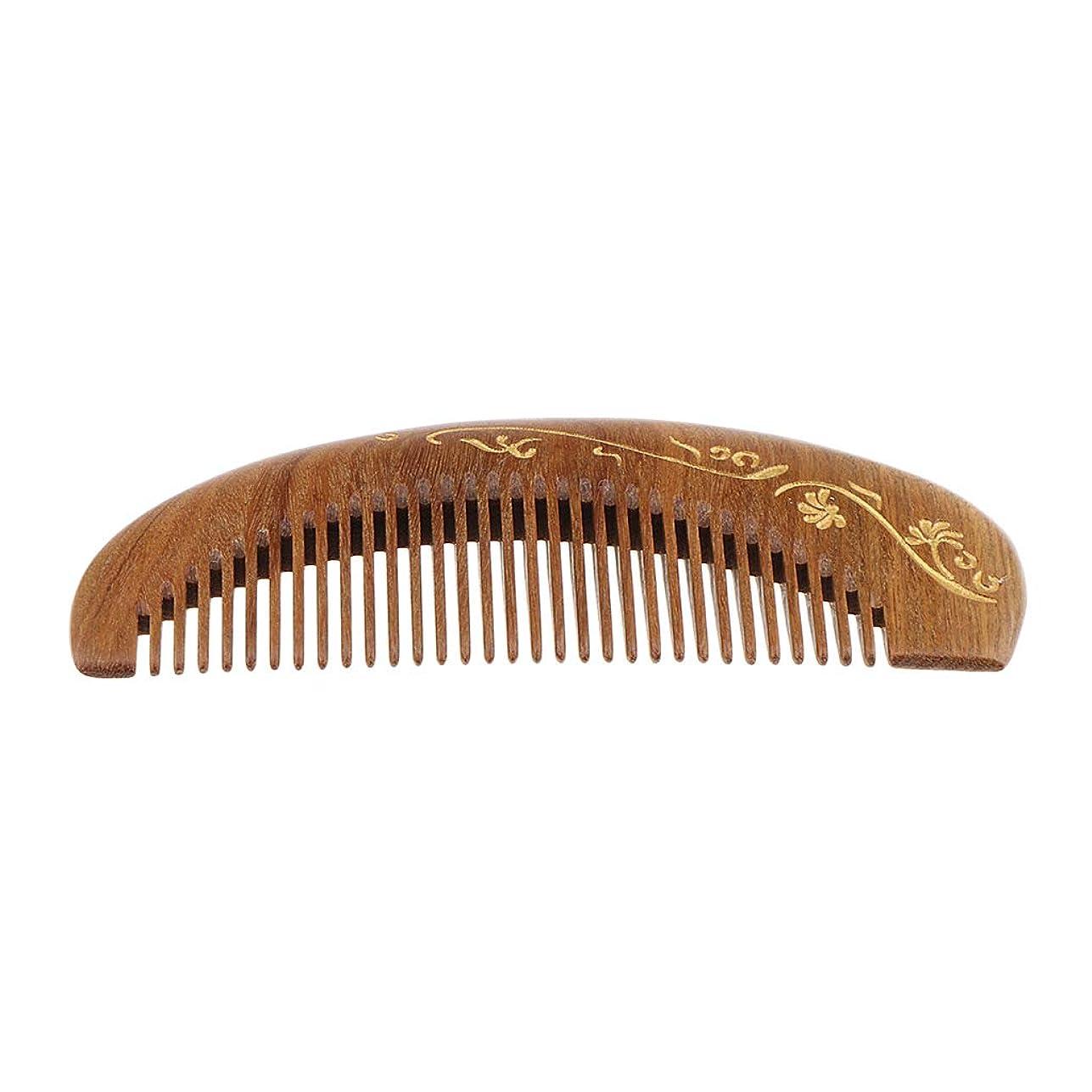 寄り添うはっきりと同級生SM SunniMix 木製ヘアコーム 静電気防止櫛 ヘアサロン 広い歯 マッサージ櫛 4仕様選べ - #2