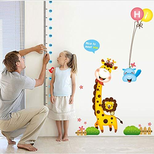 180 Cm Crescita Metro Grafico Adesivi Murali Giraffa Altezza Telemetro Camera da Letto per Bambini Soggiorno Sfondo Camera dei Bambini Decor