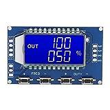 Módulo generador de señal, generador de señal de pulso PWM, con pantalla LCD, generador de señal de onda cuadrada ajustable, módulo generador de mini frecuencia para desarrollo experimental(Azul)