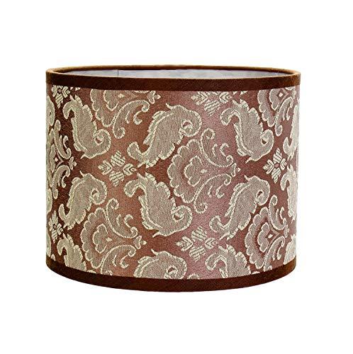 Abat-jour cylindrique en tissu Taupe pour lampe de table E14 Ø 17 cm
