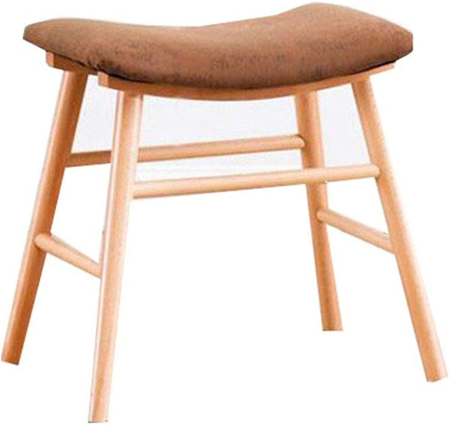 KTH Bedroom wooden stool fabric stool home makeup stool fashion shoes bench simple modern soft surface dining table stool
