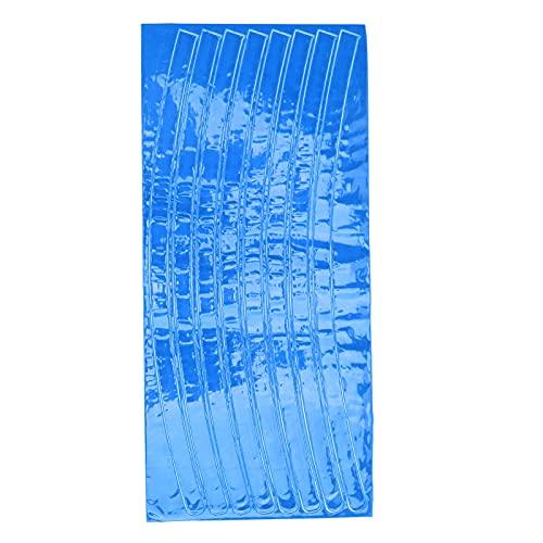 Jopwkuin Reflector de radios de Bicicleta, calcomanías Reflectantes fáciles de Usar Ligero y fácil de operar Cree Usted Mismo un Estilo único para Frenos de Disco y Frenos en V(Blue)