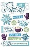 Paper House Let it Snow Dimensional 3D Scrapbook Stickers (1-Pack), STDM90E