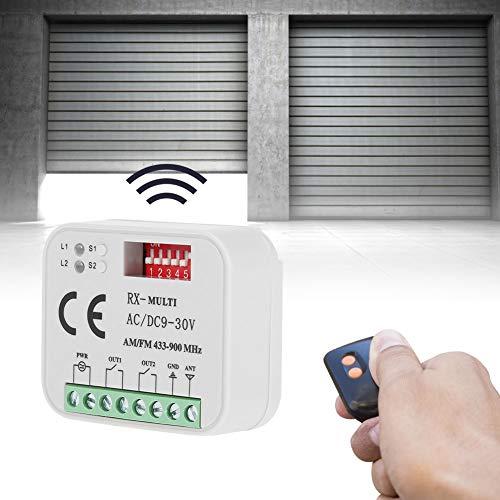 Receptor para Puerta de Garaje, Receptor de Control Remoto Universal plástico de 30 V, para SMG-662MRX FAAC, Sommer 300-900MHZ