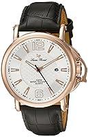 [ルシアンピカール] Lucien Piccard 腕時計 Men's 'Triomf' Quartz Stainless Steel and Black Leather Casual Watch (Model: ) クォーツ LP-40018-RG-02S メンズ 【並行輸入品】