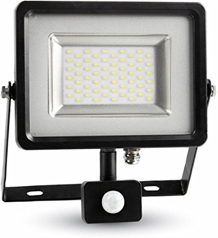 V-TAC LED Fluter, Metall, Integriert, 30 W, schwarz