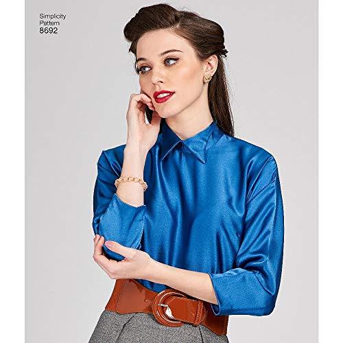 Simplicity Vintage 1950er Jahre Fashion Damen Vintage Dickey und Bluse Schnittmuster Größen 6-14