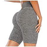 GDJGTA Leggings Shorts for Women Butt Lift Yoga Pants High Waist Tummy Control Lifting Workout Scrunch Leggings