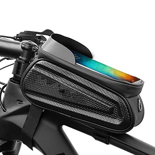 Bolsa Para Bicicleta, Bolsa Para Cuadro Frontal, Manillar Impermeable Para Bicicleta, Bolsa Para Tubo Superior Para Montar, Visera Con Pantalla Táctil, Soporte Para Teléfono Móvil De Gran Capacidad, E
