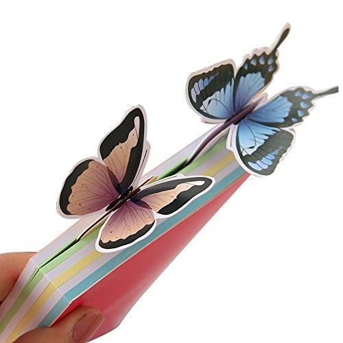 10pz Segnalibro Farfalle In carta Elegante Regalo