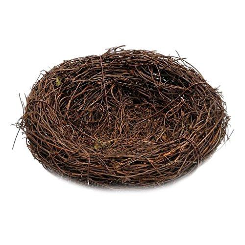 MagiDeal nid rotin oiseaux petits animaux décoration jardin Champ accessoires artificielle 30 cm