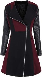 3b79d771c943 LISTHA Leather Jacket Coat Plus Size Women Winter Woolen Long Overcoat  Outwear