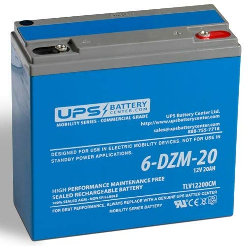 Replacement for 12V 20Ah Deep Cycle Sealed Lead Acid Battery for eBike/Scooter 6-DZM-20
