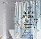 JOVEGSRVA Aquarell Buchstaben Duschvorhänge Wasserdicht Badezimmer Gardinen Trennvorhang Schimmel Proof Bad Vorhang Mit 12 Haken 180 X 180 cm