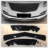 Front Bumper Lip Spoiler Splitter Cover Trim For Cadillac ATS 2015-18 Glossy Black
