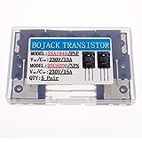 BOJACK 5 Paia 2SA1943 2SC5200 Amplificatore Transistori PNP NPN Nero ad alta potenza Audio SiliconTransistori TO-3PL (confezione da 10 pezzi)