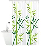 Tatkraft Bamboo Green Duschvorhang 180X180cm Peva Wasserdicht Schimmelfrei mit 12 Duschringen