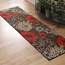 Better Homes and Gardens Sorbet Faux Hook Floral Runner Rug, Multi-Color, 1'11
