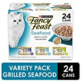 Fancy Feast Wet Cat Food Variety Pack, Seafood Grilled Collection, (24) 3 Oz Cans