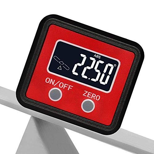 DGHJK Medidor de ángulo electrónico, transportador de Caja de Nivel con Base magnética y Pantalla de retroiluminación LCD, inclinómetro Digital para carpintería, automóvil, Soldadura