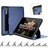 ZUGU CASE - iPad 10.2 Case - Very Protective But Thin + Convenient Magnetic Stand + Sleep/Wake Cover (Navy Blue) laptop cases Oct, 2020