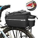 Fahrradtasche Fahrrad Gepäckträgertasche Isoliertasche, Multifunktionale Stammkühltasche Fahrrad Gepäckträger Radfahren Gepäcktasche Reflektierende MTB Bike Pannier Bag Umhängetasche,38 * 16 * 15,5cm