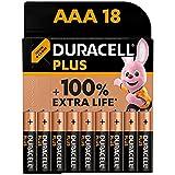 Duracell - NUEVO Pilas alcalinas Plus AAA , 1.5 Voltios LR03 MN2400, paquete de 18