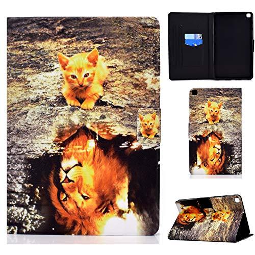 Funda para Samsung Galaxy Tab A7 Lite 8.4 Pulgada 2021 Carcasa SM-T220/T225 Cuero PU Ligera Protector de Cartera Cover Flip Case con Función de Soporte y Bolsillo para Tarjetas, Lindo Patrón