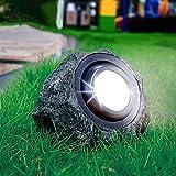 WBias&Belief Luces Exterior Solares, LED de Luz de La Resina de La lámpara Impermeable Piedra de simulación Luces para jardín Patio del Patio Trasero Decoración