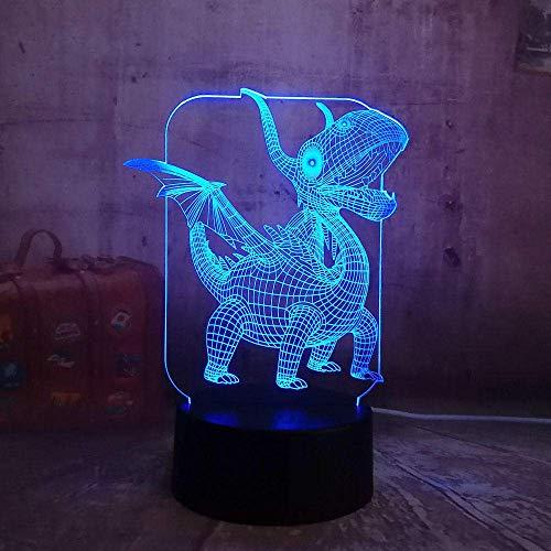 3D-Led-Illusionslicht Ute Netter Kleiner Flugsaurier-Drache , Kinderlampe Schlaflicht Desktop-Dekoration Nachttischlampe Tischlampe Kreative Dekoration Weihnachtsgeschenk Geburtstagsgeschenk.
