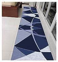 廊下敷き にとって 廊下 リビングルーム 階段 エントランス・ホール 幾何学的 長いカーペット 滑り止め 幅60cm、70cm、80cm、90cm WUZMING (Color : Multi-colored-A, Size : 80x350cm)