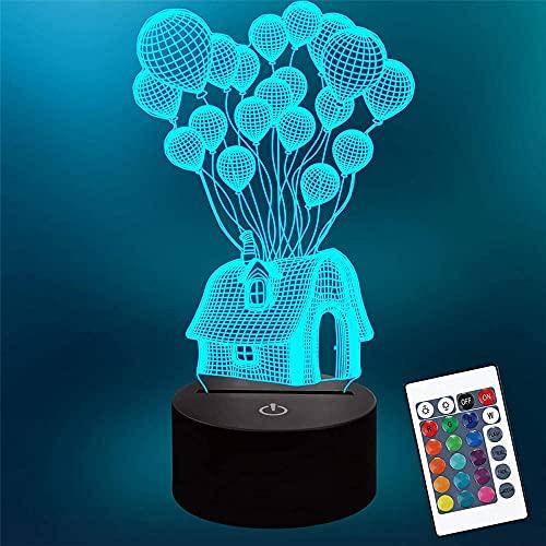 Lámpara de mesa con interruptor táctil con control remoto de 16 colores para regalos de cumpleaños, festival, decoración de dormitorio