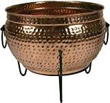"""Global Outdoors 16"""" Genuine Copper Fire Pit/Planter"""