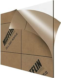 MIFFLIN Cast Plexiglass Sheet (Transparent Clear, 1 Piece, 9 x 12 Inch, 0.118