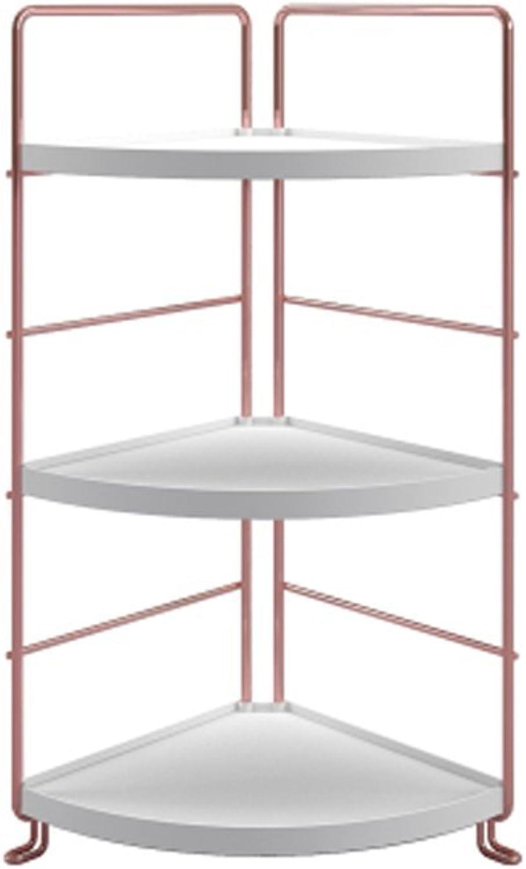 WAN SAN QIAN- Shelf Economy Is Modern And Simple Desk Shelves Living Room Turquoise Racks Triangular Bookshelf Desktop Shelves White gold Shelf ( Size   Sector )