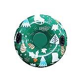 Moilant Aufblasbarer Schlitten Mit Griff,Snow Tube, PVC Schneeröhre Verdicken Kälteschutz Aufblasbare Skischlitten Tragbare Hochleistungs Schlittenröhre für Kinder Erwachsene (47inch color 4)