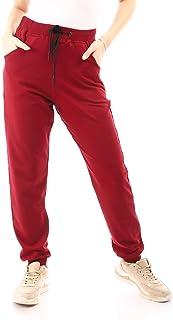 Andora-Cotton Plain Comfy Pants - Dark