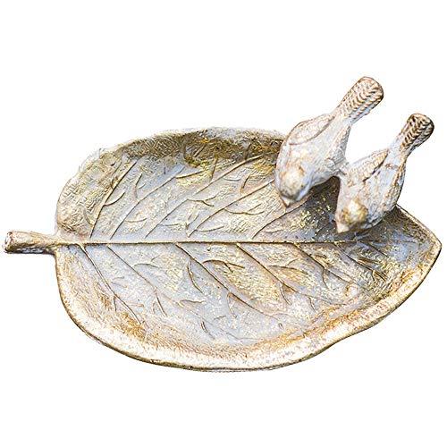 LILICEN Cenicero, Cenicero Retro Cast Hoja Pájaro de Hierro Decoración Cenicero Europea Pastoral 13X7.5cm