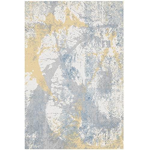 SYN-GUGAI Alfombras Frescas Y Cómodas Sencillas, Alfombras Tinta Salpicaduras Abstractas Amarillas Grises, Decoración Hogar (Color : 1, Size : 200cm×300cm)