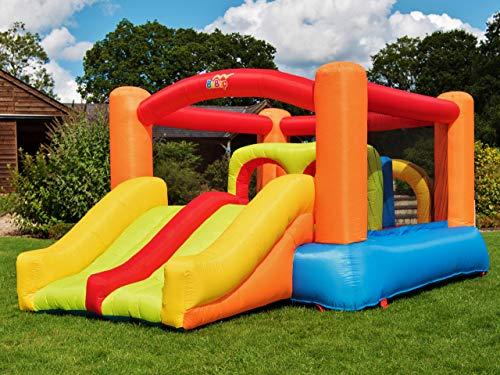 BeBoP Obstacle Challenge Kids Bouncy Castle and Double Slide