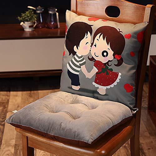 YJSGJH stoel stoel rugleuning leuke bureaustoel thuis stoel Siamese kussen voor stoel stoel of auto, bureaustoel en rolstoel