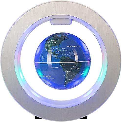 Whinop 4' Magnetic Levitation Floating Globe mit LED Lampe,Blau Kinder Globus Beleuchtet Zum Lernen Der Home Office Schreibtischdekoration