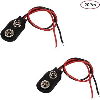 Pile 9/V Clip connecteur Se Fixe I-Type 20-Pack