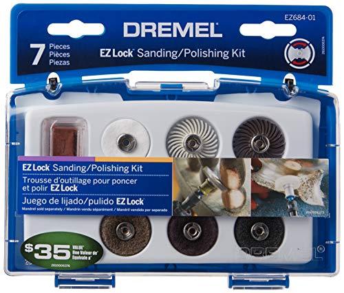 Dremel EZ684-01 EZ Lock Sanding And Polishing Kit , Blue