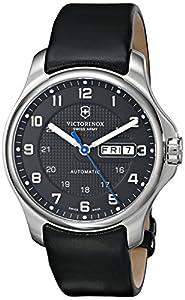 Victorinox Men's 241546 Officers Analog Display Swiss Automatic Black Watch image